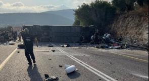 مصرع خمسة مستوطنين وإصابة 35 في حادث طرق في منطقة الجليل