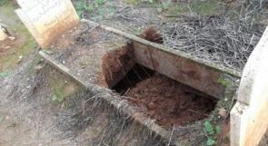 الاحتلال ينبش قبر طفلة حديثة الولادة في بيت أمر شمال الخليل