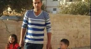 شهيد المغير حمدي النعسان برفقة اثنين من أطفاله