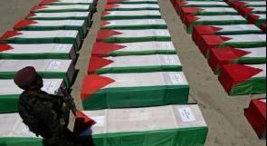 جرائم الحرب.. (253 شهيداً  محتجزة جثامينهم في مقابر الأرقام الاسرائيلية )