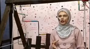 رزان حماد تحول وجهها إلى لوحة فنية بلمسات سحرية
