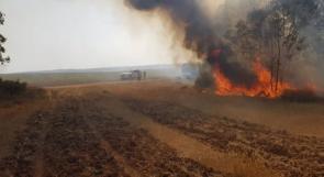 اندلاع عدة حرائق في مستوطنات غلاف غزة
