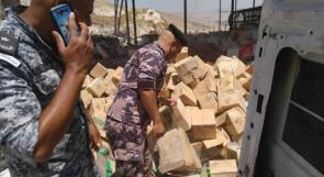 ضبط خمسة أطنان من البضائع الفاسدة في مدينة نابلس