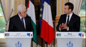 قبيل لقاءه ترمب .. ماكرون يهاتف الرئيس عباس