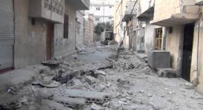 البدء بإزالة الركام من مخيم درعا جنوب سوريا