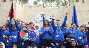 """الاتحاد الأوروبي يتوج مدرسة نور القدس بلقب """"مدرسة القدس الخضراء"""""""