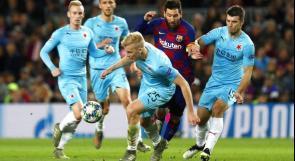 برشلونة يسقط يتعادل مع سلافيا براغ