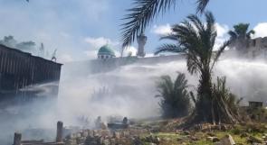 فيديو وصور | حريق كبير في مقبرة الاستقلال الإسلامية بمدينة حيفا، وترجيحات بأن مستوطنين نفذوا الجريمة