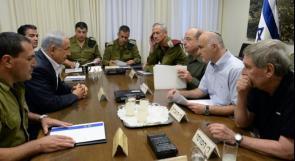 انتهاء الجلسة الثانية لمشاورات الاحتلال الطارئة لتقييم التصعيد ضد غزة