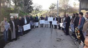وقفة احتجاجية في عكا رفضاً لإزالة النصب التذكاري لكنفاني