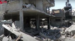 """حي """"قطامش"""" في مخيم المغازي بغزة أصبح كومة من الركام..  وأهله يناشدون عبر وطن لإغاثتهم"""