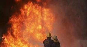 إنقاذ عائلة أتت النيران على كامل منزلها في طوباس