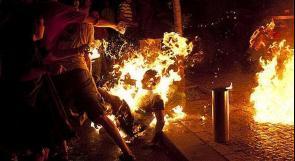 تظاهرة بتل أبيب احتجاجا على وفاة الإسرائيلي الذي أحرق نفسه