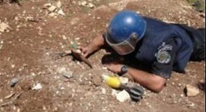 """نابلس: الشرطة تتلف قذيفة """"أنيرجا"""" قرب مبنى المقاطعة"""
