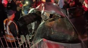 وادي عارة: وفاة السيدة آمنة أبو واصل وإصابات 4 أخرين جراء حادث طرق