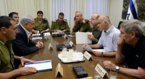 """""""الكابينت"""" يأمر جيش الاحتلال بمواصلة قصف قطاع غزة"""