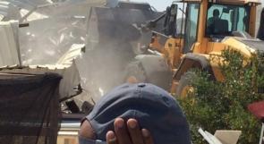 الاحتلال يهدم مغسلة سيارات في صور باهر جنوب شرق القدس