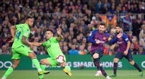 """هدف ميسي الذهبي يتوج برشلونة بلقب """"الليجا"""""""
