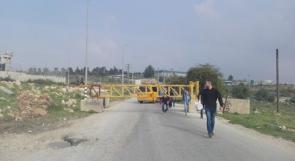 الاحتلال يغلق مدخل النبي صالح ببوابة حديدية وسط مواجهات مع الشبان