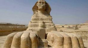 العثور على تمثال من الحجر الرملي لأبي الهول