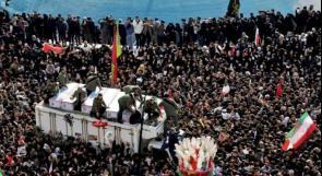 عدد قتلى التدافع في جنازة سليماني يرتفع لـ 50