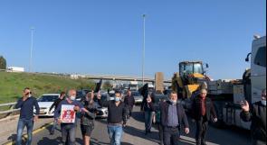 مسيرة السيارات الاحتجاجية ضد العنف والجريمة تغلق أهم شريان مواصلات بالداخل المحتل