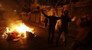 إصابة شاب بالرصاص وعدد من المواطنين بالاختناق خلال مواجهات مع الاحتلال في يعبد
