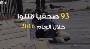 فيديو .. 93 صحفيا قتلوا في 2016