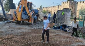 الاحتلال يواصل التجريف في المقبرة اليوسفية بالقدس لليوم الثاني