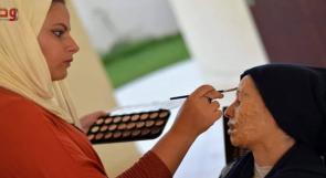 مريم تبدع في مجال المكياج السينمائي والخداع البصري في غزة