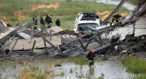 22 قتيلا على الأقل في انهيار جسر جنوة الإيطالية