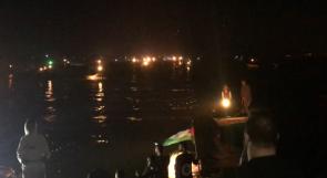 ميناء غزة يتوشح بالبرتقالي.. في اليوم العالمي للقضاء على العنف ضد المرأة