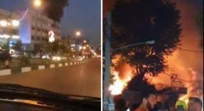 فيديو |  13 قتيلا في انفجار بمنشأة طبية شمال طهران
