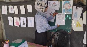 أسماء الأقرع.. فنانة تحول حديقة منزلها إلى معرض للوحاتها