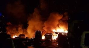 السيطرة على حريق في مجمع للخردة غرب الخليل