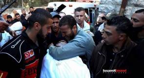 تشييع جثمان الشهيد الأسير نور البرغوثي في عابود