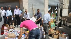 ضبط ثلاثة أطنان تمور وشوكولاتة إسرائيلية تالفة في القدس