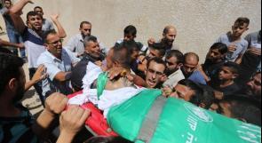 صور.. تشييع جثمان الشهيد وسام حجازي في خانيونس