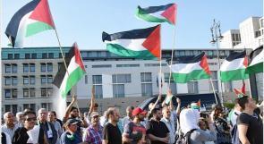 تظاهرة للجالية الفلسطينية في برلين رفضا لسياسة الضم