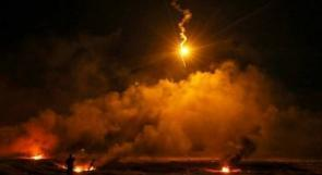 الاحتلال يستهدف معدة مواقع شمال بيت لاهيا