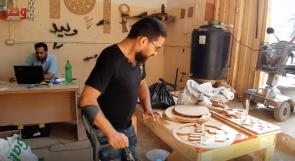 يرويان لوطن قصتهما... ذوا إعاقة يفتتحان ورشة نجارة في غزة