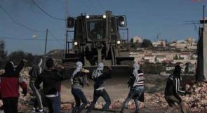 إصابات بالاختناق عقب قمع قوات الاحتلال مسيرة قرية كفر قدوم الأسبوعية