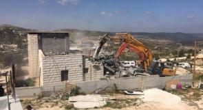 الاحتلال هدم منزلاً في حورة بالنقب