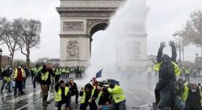 """فرنسا.. ارتفاع حدة الاشتباكات بين محتجي السترات الصفراء والشرطة في تظاهرات """"السبت الأسود"""""""