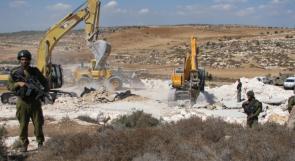 الاحتلال يواصل تجريف أراضٍ في بورين جنوب نابلس