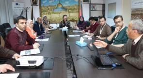 صندوق درء المخاطر والتامينات الزراعية يجتمع مع رئيس الطاقم الفني في المجلس الفلسطيني الأعلى للبناء الأخضر