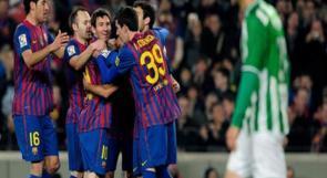 برشلونة يهزم بيتيس بصعوبة