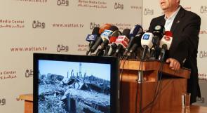 مصطفى البرغوثي: قصف غزة يعادل قنبلتين نوويتين