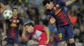 بالفيديو...ميسي يقود برشلونة للتغلب على الدب الروسي