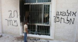 مستوطنون يحاولون إحراق منزل في قرية المنشية